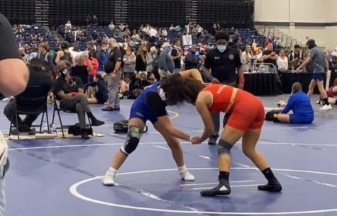 Sharon Leon wrestling at the Super 32 tournament in Myrtle Beach, South Carolina.