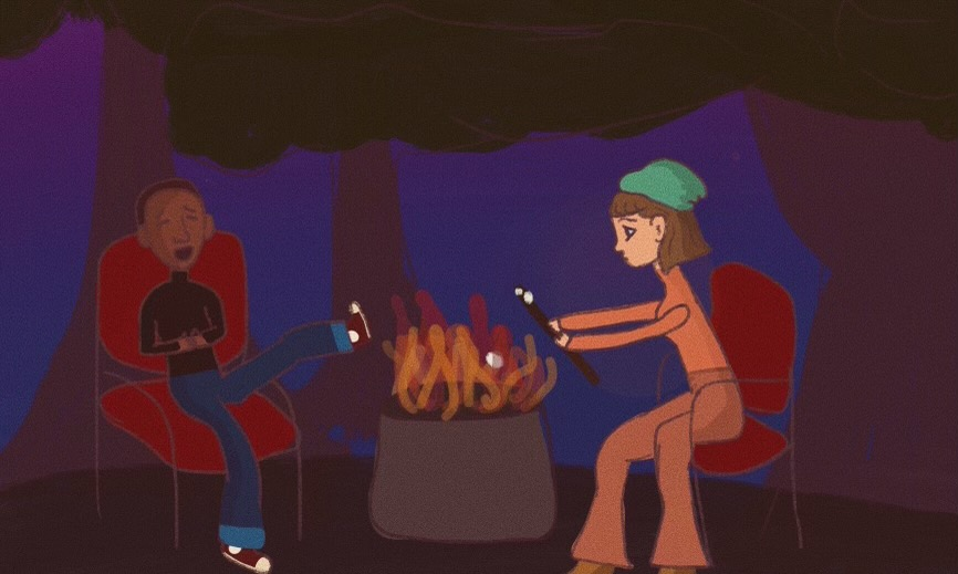Activity number nine, have a bonfire with your friends.
