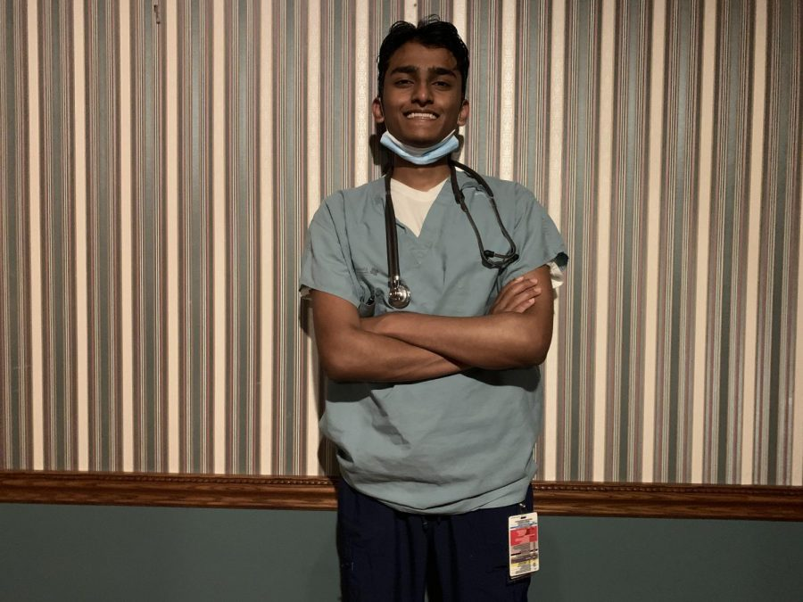 Kandakudy took extra courses alongside his normal school work in order to become a certified nursing assistant.