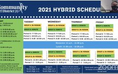 Superintendent Dr. Hank Thiele presents the new 2021 Hybrid Schedule set to go into effect on Jan. 5.