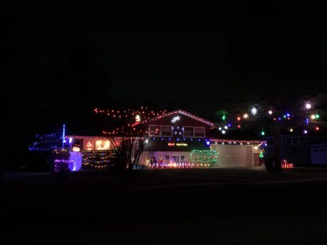 A house in Downers Grove lights up the street with holiday cheer.