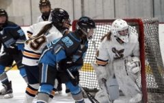 Sophie Richert; goalie, playing the last fall/winter season with the Naperville Sabres.