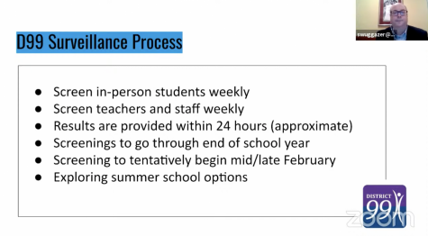 The weekly COVID-19 surveillance is set to begin in mid-February and continue through the end of the school year.