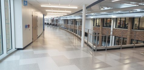 The second level of the new wings includes an anatomy and science classrooms