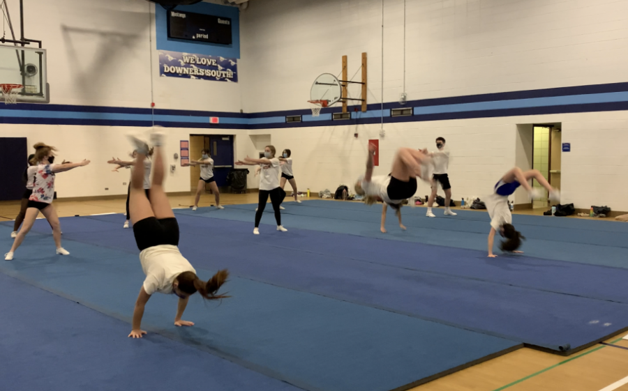 Varsity cheerleading tumbles their way into start of competitive season