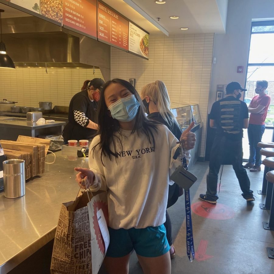 Junior Deanna Eslit enjoys her trips to Chipotle where she is able to pick up her favorite meal.