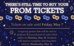 DGS activities has released updates regarding prom ticket sales and event information.
