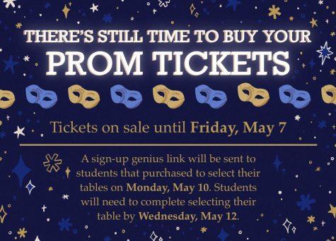 DGS activities has released updates regarding prom ticket sales and event information.