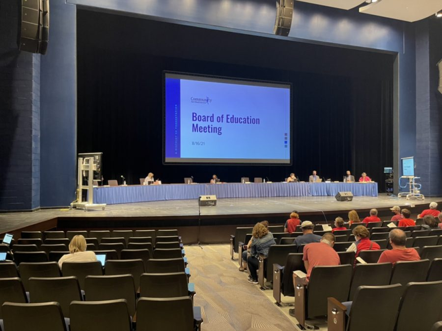 The board held a meeting on Aug. 16 with many vocal participants.