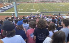Students at Downers Grove South barely have any wiggle room in the stands.