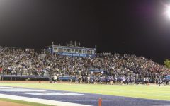 The packed home stands during the fourth quarter of the Downers Grove North v. Downers Grove South football game on Sep. 10.