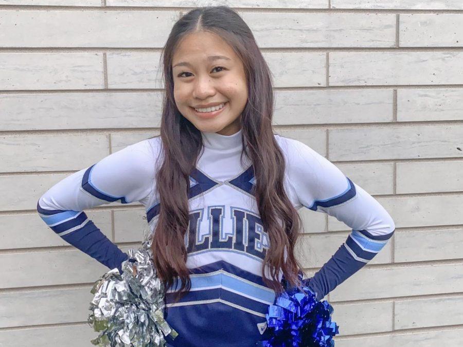 Operana poses in her Fillies uniform ahead of the 2021 dance season.
