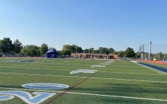 The DGS football field where the 2021 homecoming dance will take place.