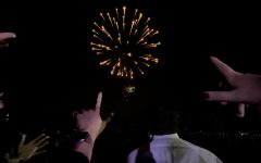 Students concluded the space-themed homecoming dance with a firework show.