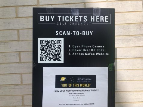 New this year, tickets were virtual. You could purchase them by scanning a QR code.