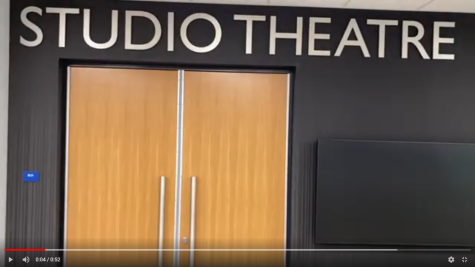 The freshmen play was the first play to be held in the new Studio Theatre.