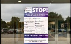 DGS displays signs on main entrances specifying symptoms that would require individuals to stay home.